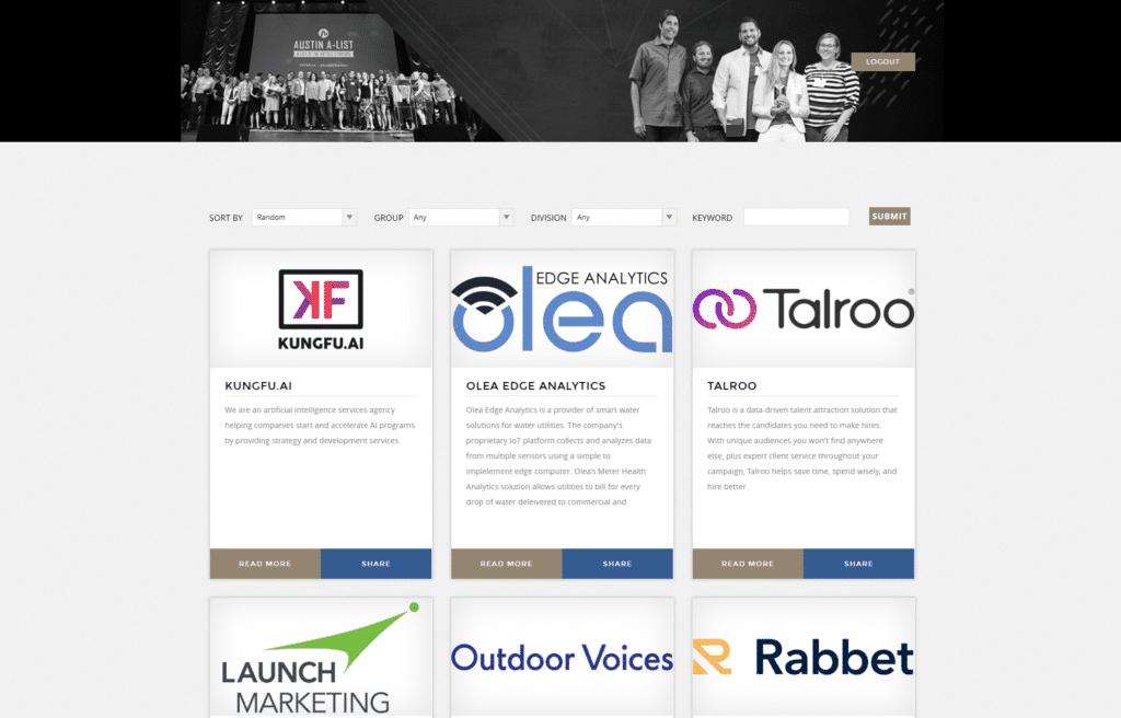 Grant Management Software Public Showcase Page