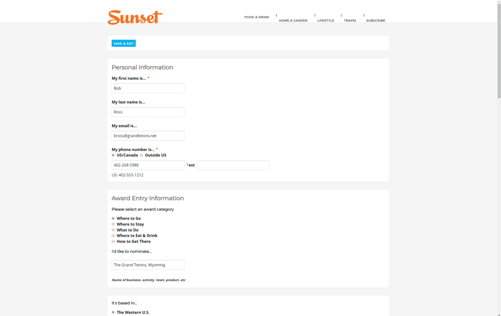 Scholarship Management Software Form