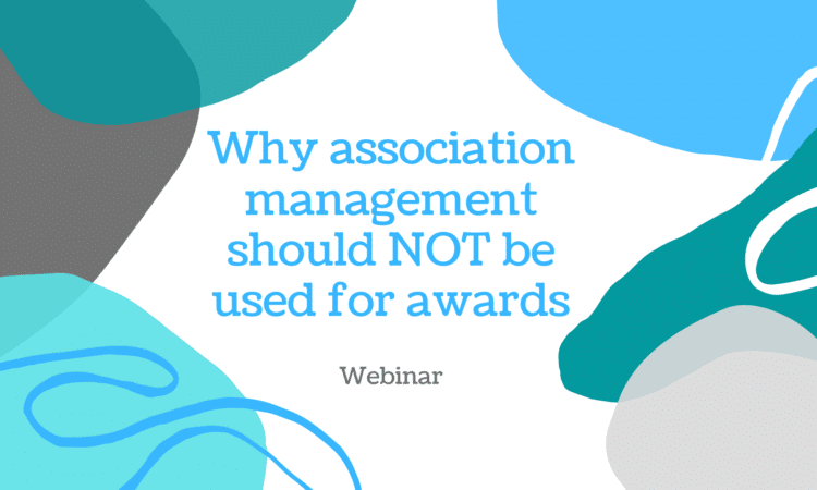 Why association management software should NOT be used for award management